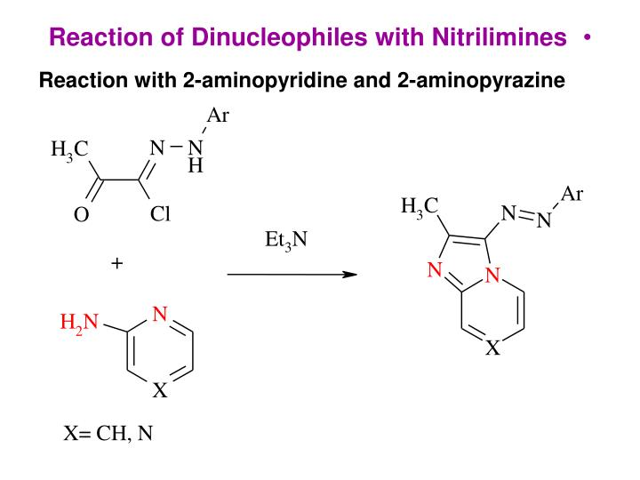 Reaction of Dinucleophiles with Nitrilimines