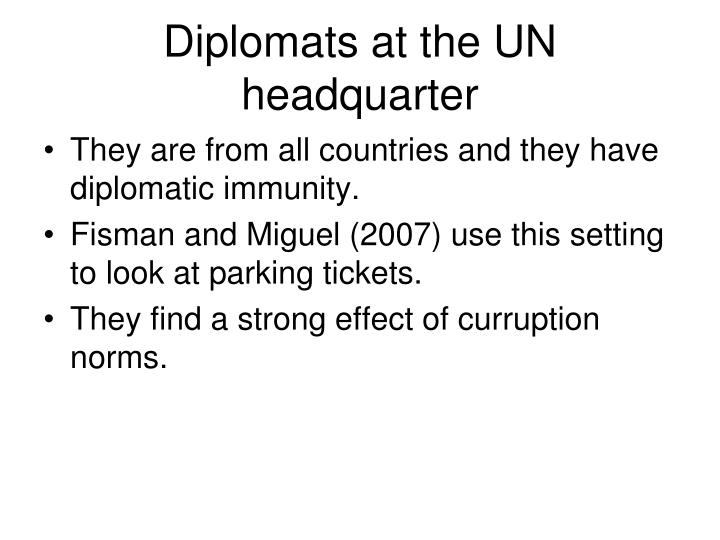 Diplomats at the UN headquarter