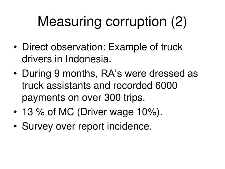 Measuring corruption (2)