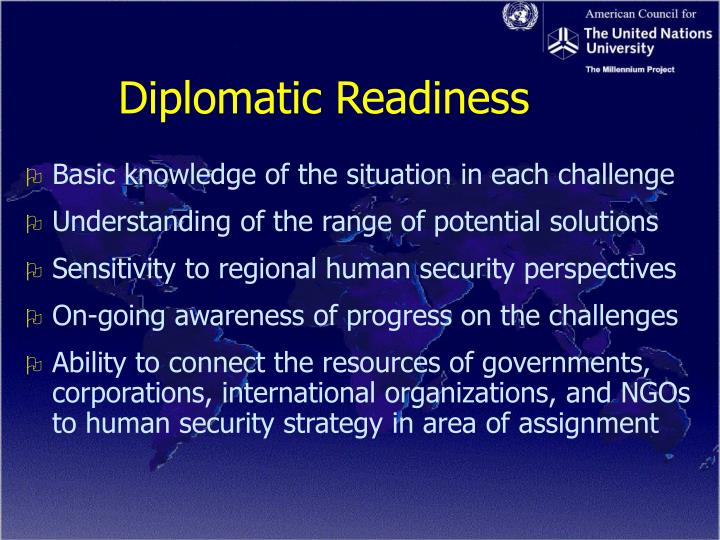 Diplomatic Readiness