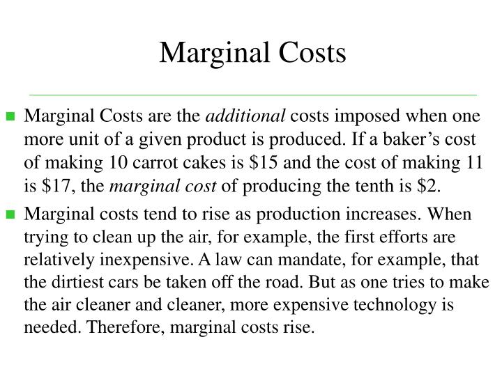 Marginal Costs