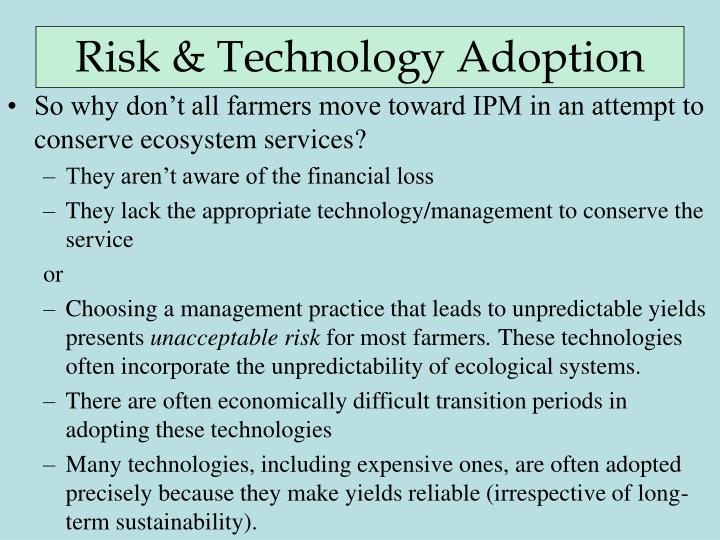 Risk & Technology Adoption