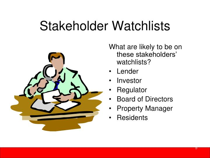 Stakeholder Watchlists