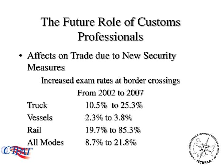 The future role of customs professionals2