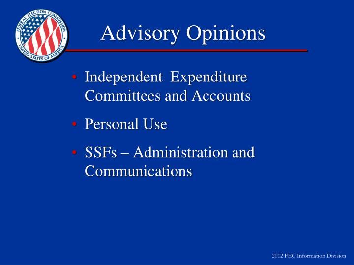 Advisory Opinions