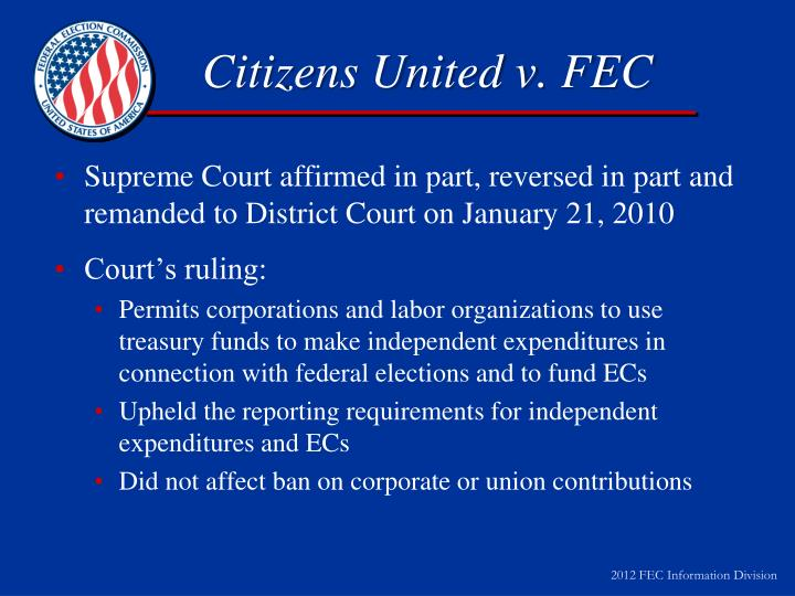 Citizens United v. FEC