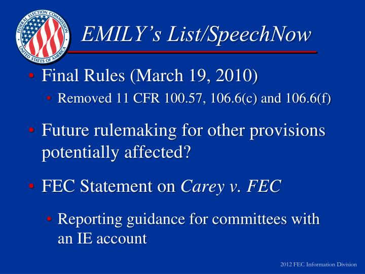 EMILY's List/SpeechNow