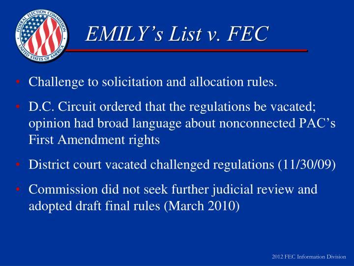 EMILY's List v. FEC