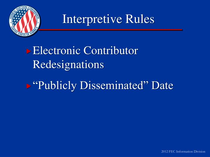 Interpretive Rules