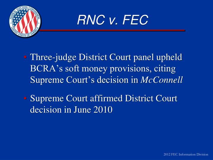 RNC v. FEC