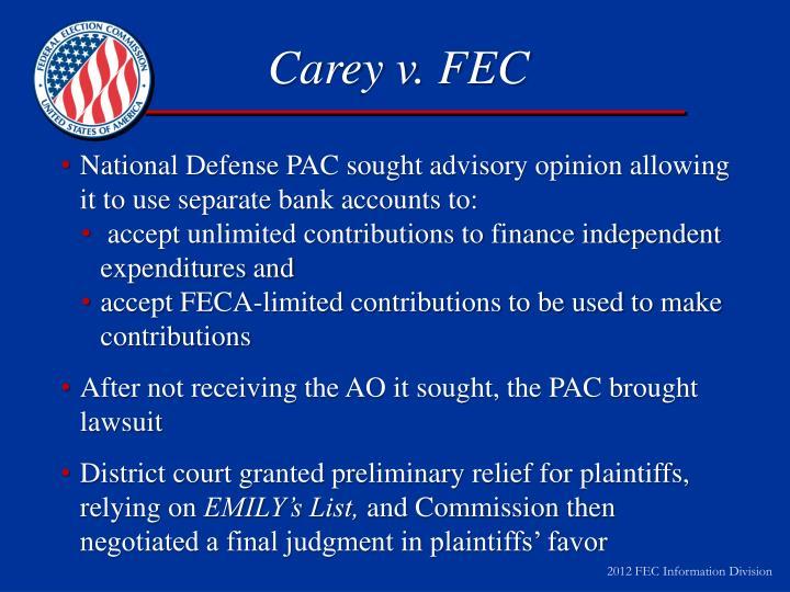 Carey v. FEC
