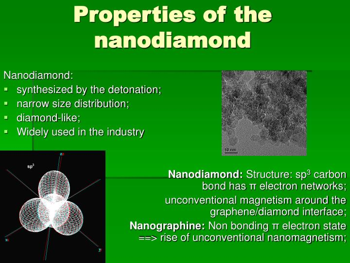 Properties of the nanodiamond