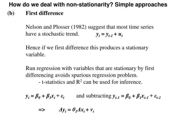 How do we deal with non-stationarity? Simple approaches