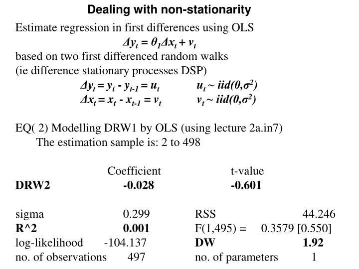 Dealing with non-stationarity
