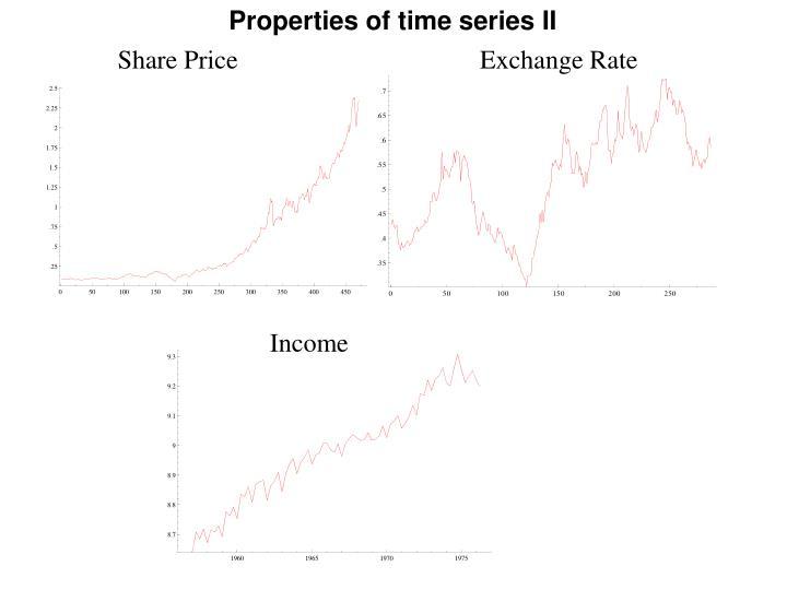 Properties of time series II