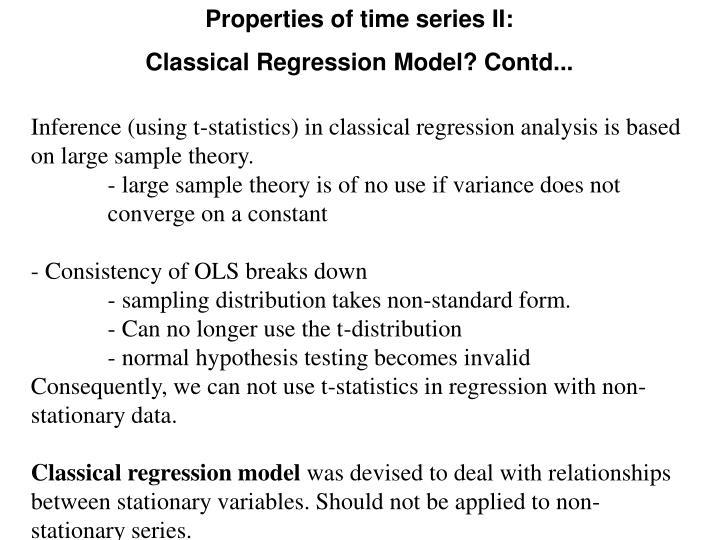 Properties of time series II: