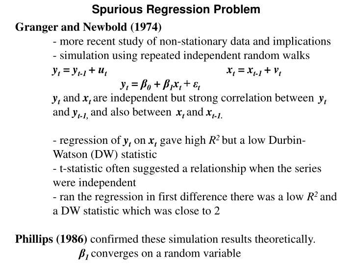 Spurious Regression Problem