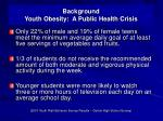 background youth obesity a public health crisis4