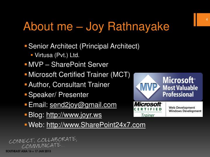 About me – Joy Rathnayake