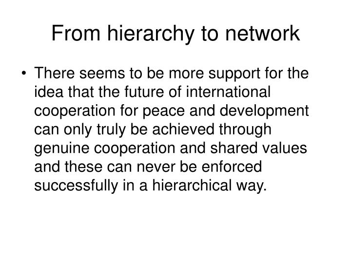 From hierarchy to network