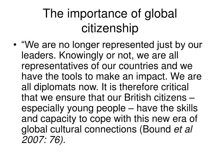 The importance of global citizenship