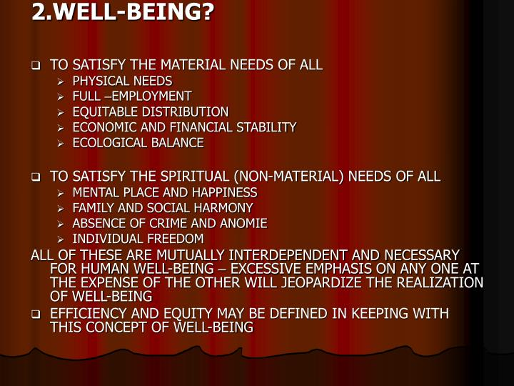 2.WELL-BEING?