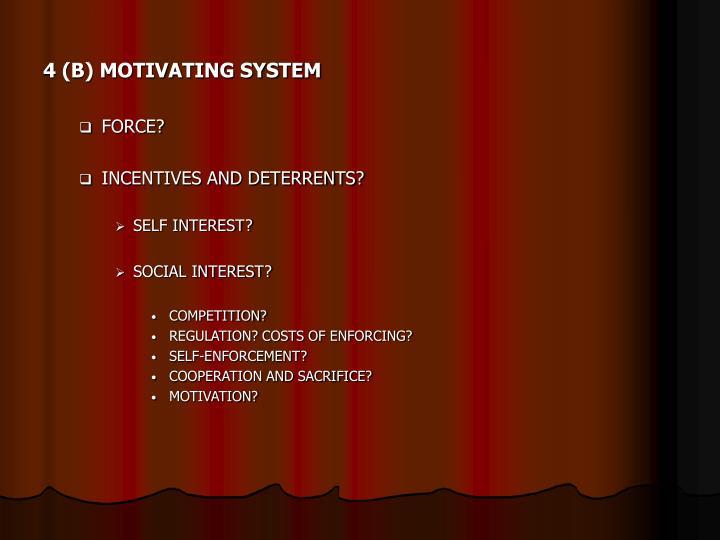 4 (B) MOTIVATING SYSTEM