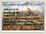 bible survey jerusalem