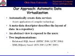 our approach automatic data virtualization
