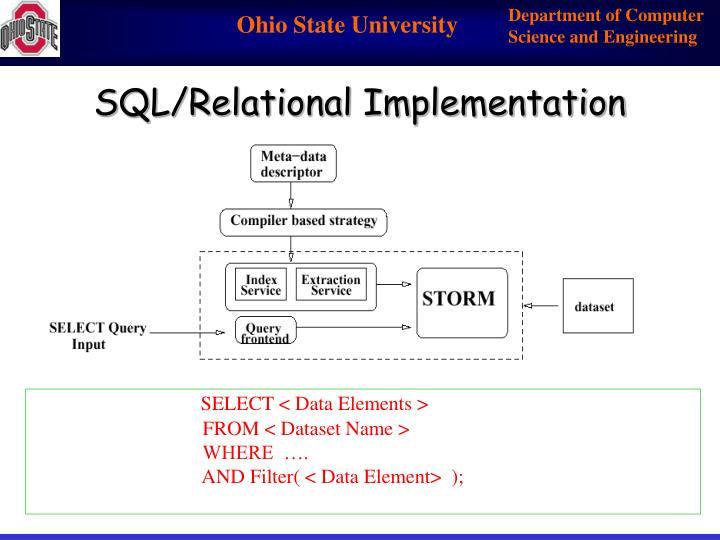 SQL/Relational Implementation