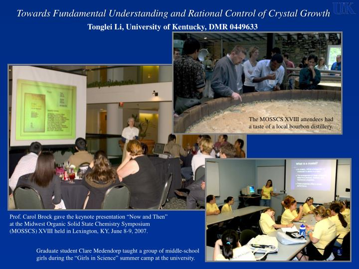 Towards fundamental understanding and rational control of crystal growth1