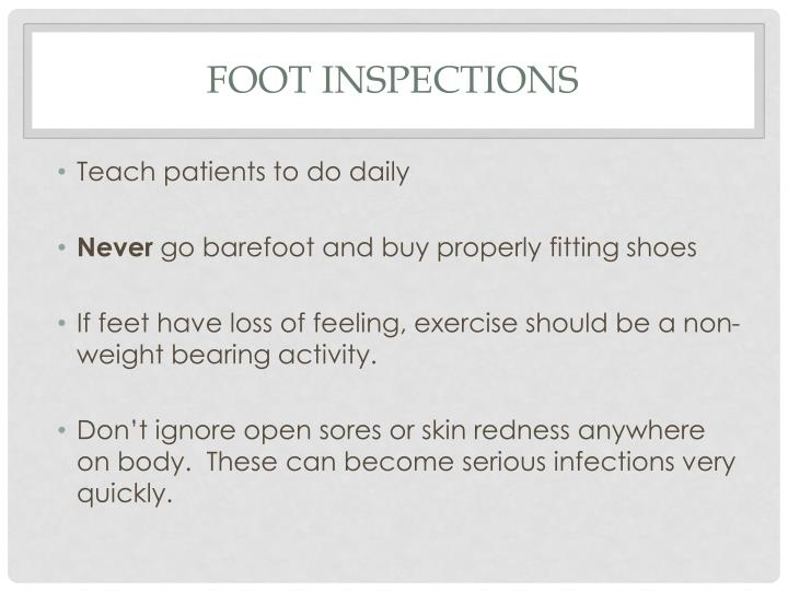 Foot Inspections