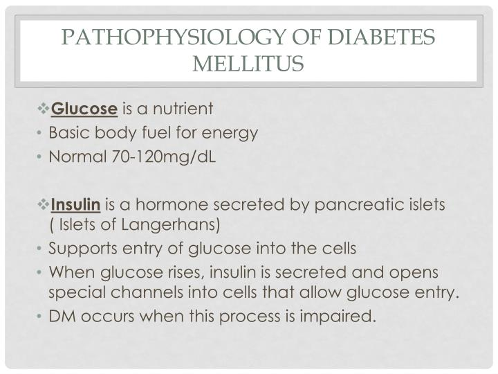 Pathophysiology of diabetes mellitus1