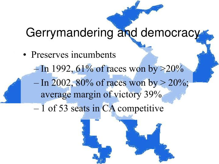 Gerrymandering and democracy