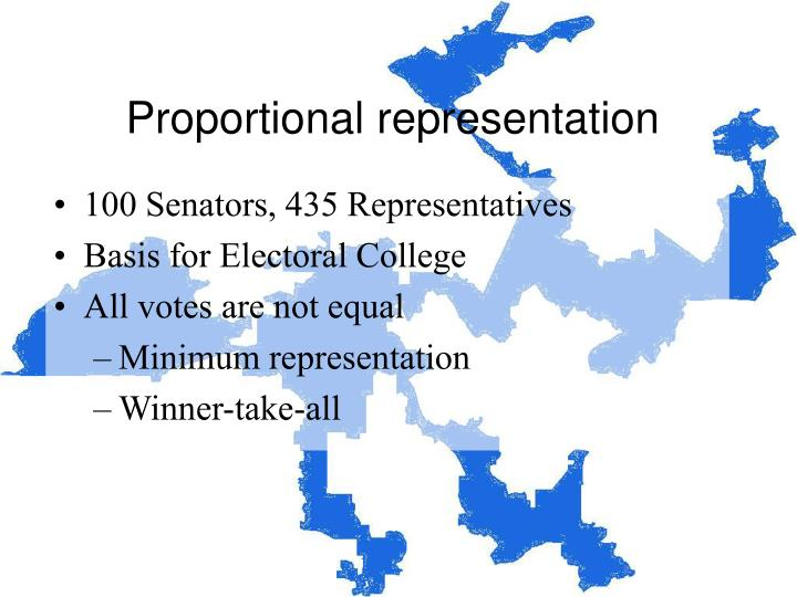 Proportional representation1