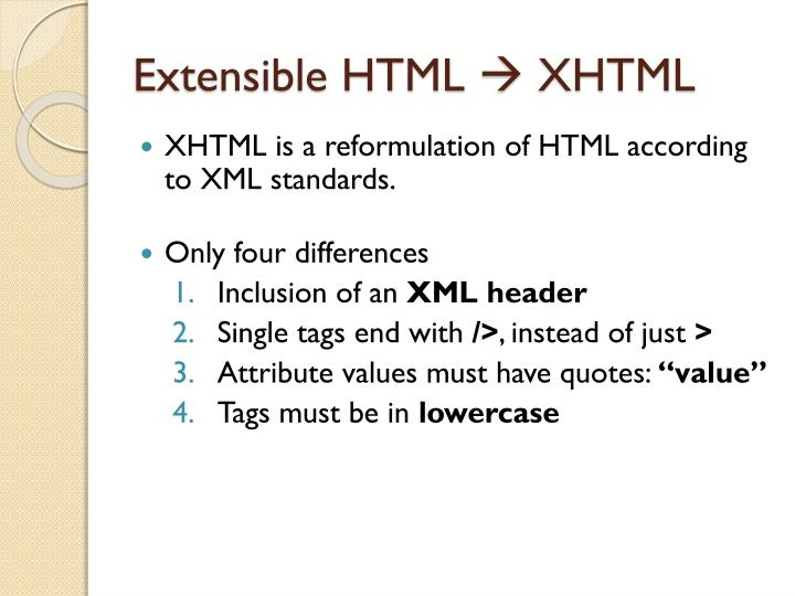 Extensible HTML