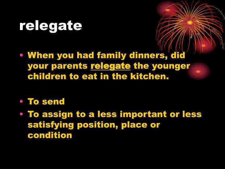 relegate