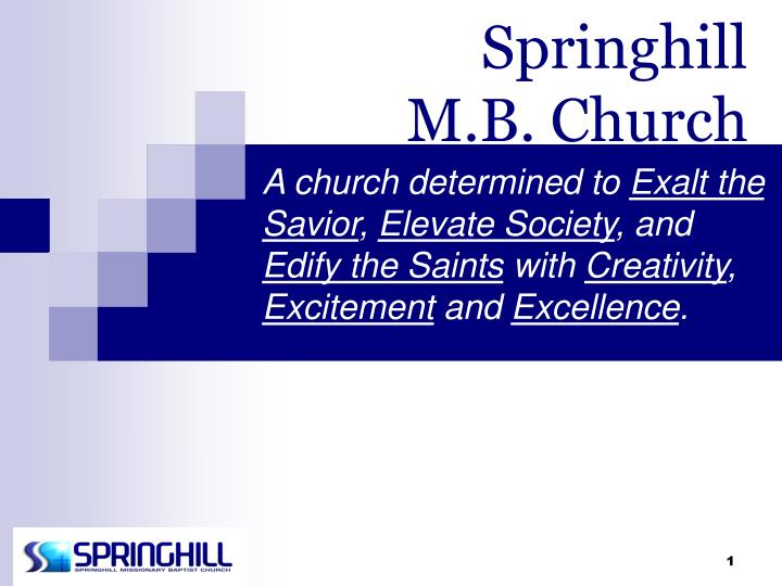Springhill m b church