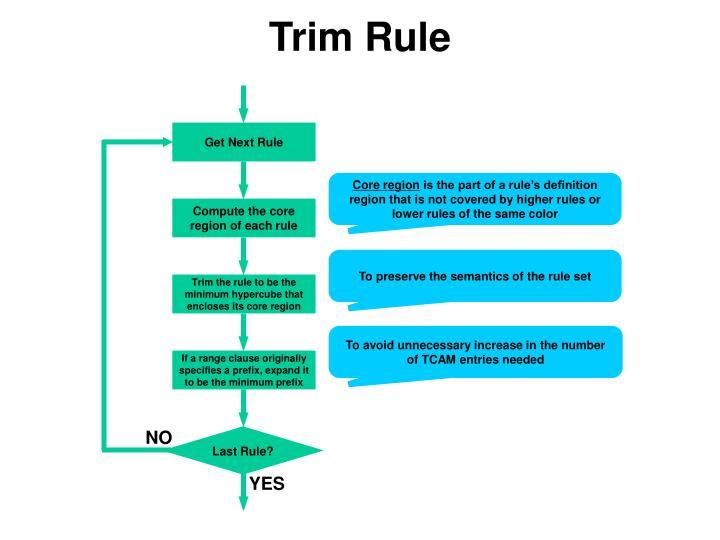 Trim Rule