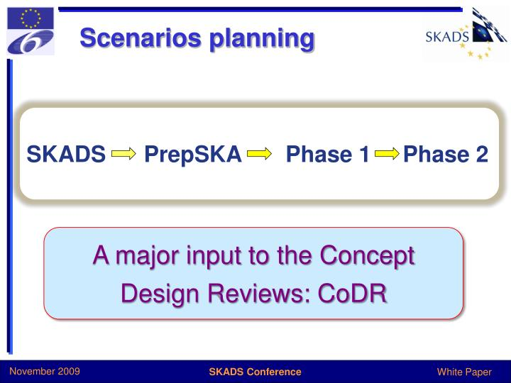 Scenarios planning