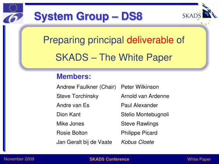 System Group – DS8