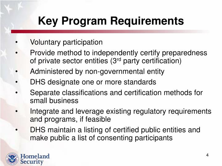 Key Program Requirements