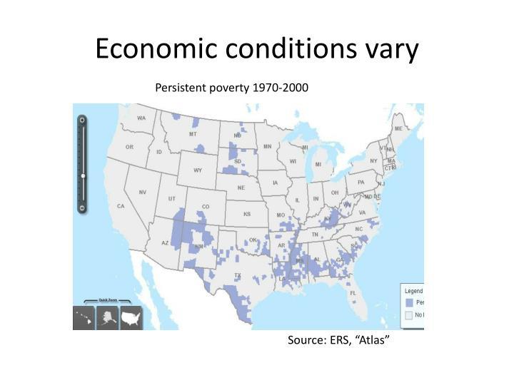 Economic conditions vary