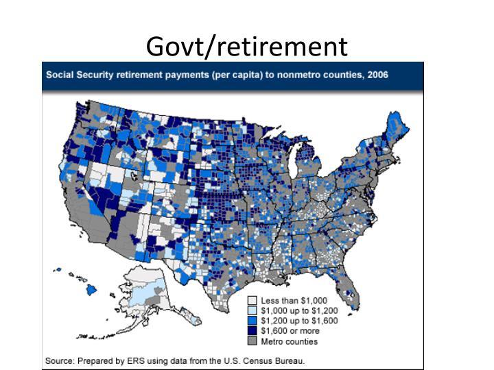 Govt/retirement