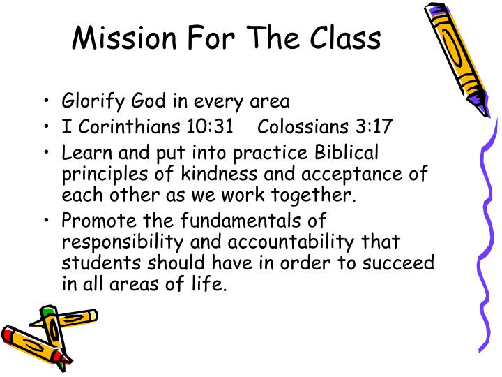 Mission for the class