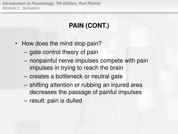 PAIN (CONT.)