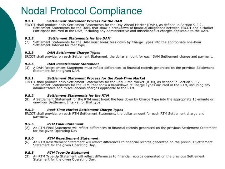 Nodal Protocol Compliance