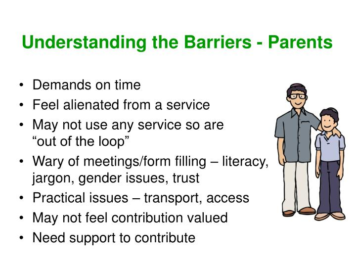 Understanding the Barriers - Parents