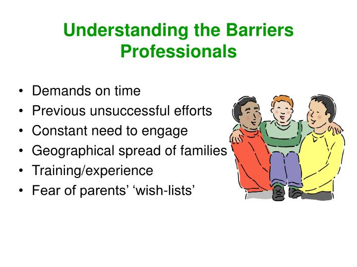 Understanding the Barriers  Professionals