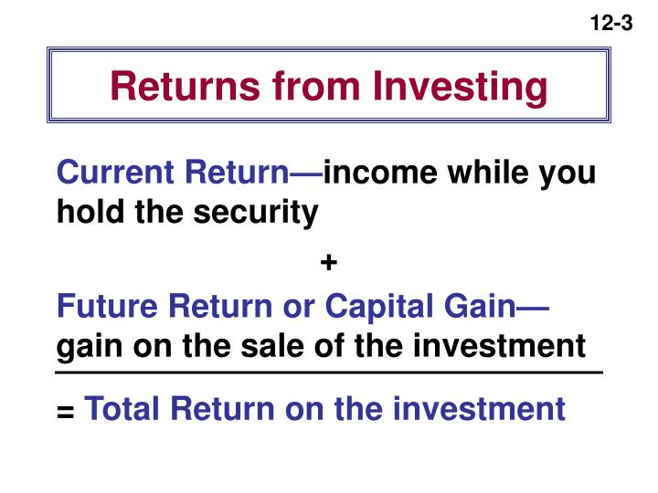 Returns from Investing